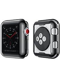 Funda protectora, Magiyard Para Apple Watch Serie 1/2/3 38mm/42mm (42mm, Negro nuevo)