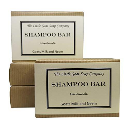 4x Shampoo Bar Haarseife-Ziegenmilch und Neemöl, 100g - Ziegen-milch-bar