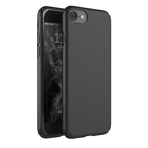 CREED iPhone 7 Essence Soft Touch Schutzhülle für iPhone 7 Hülle - Schutzhuelle, iPhone 7, iPhone 7 Case – ultra-dünnes Smartphone-Case – flexible Ecken [Easy Fit] Display Protection Overlap iPhone 7 Schutzhülle in schwarz [Deep Black]