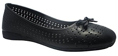 Sammy dérapant élégant des femmes sur les ballerines plates ballet chaussures chaussures de sport Noir