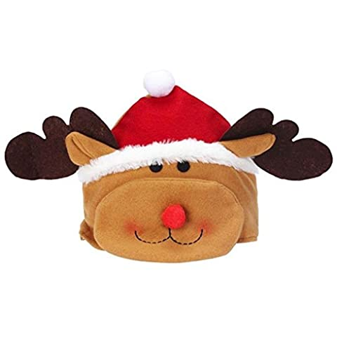 Ranboo Children Joyeux Noël Party Elk Hat Cozy Soft Warm