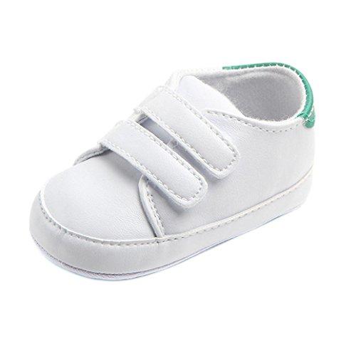 FNKDOR Baby Erste Schuhe Neugeborenen Lauflernschuhe Weiß Krabbelschuhe (6-12 Monate, Grün)