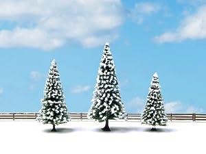 NOCH 25234 - Árboles de Nieve (3 Unidades, 8 a 12 cm, 3 Unidades), diseño de Abeto de Nieve, 8 a 12 cm de Alto