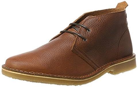 JACK & JONES Herren Jfwgobi Tumbled Leather Brown Stone Desert Boots, Braun (Brown Stone), 44 EU