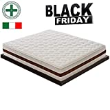 BLACK FRIDAY - Materasso Memory Singolo 5cm Alto 29cm a Zone Differenziate MOD. Bolsena Ortopedico - Made in Italy - Ergonomico - Certificato Presidio Medico con DETRAZIONE 80x200