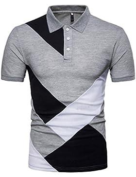 Morwind Polo Manica Corta Uomo,Magliette Estate Uomo Maglie Uomo Estive T Shirt Polo Moda Personalità Casual Slim...