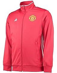 adidas Línea Manchester United FC - Chaqueta para hombre, color rojo, talla S