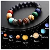 Solar System Bracelet Eight Planet Themed Natural Stone Beaded Bangles Universe Galaxy Series Jewelry Gift