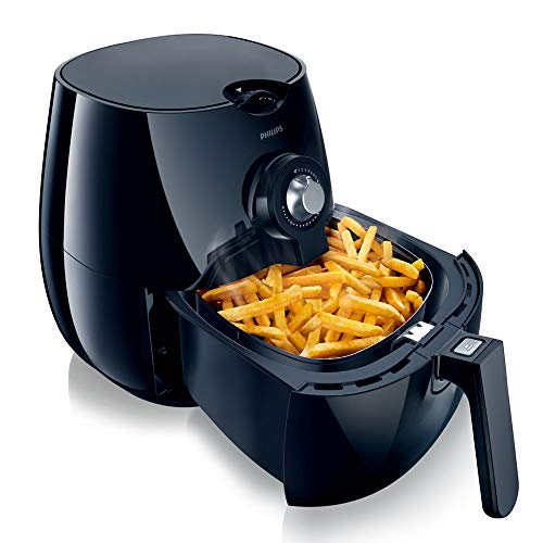 An image of the Philips HD9220/20 Airfryer with Rapid Air Technology for Healthy Cooking, Baking and Grilling, Plastic 1425 W, Black