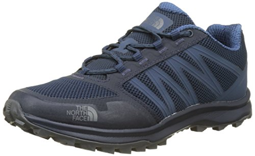 The North Face Litewave Fastpack, Chaussures de Randonnée Basses Homme Bleu (Shady Blue/zinc Grey)