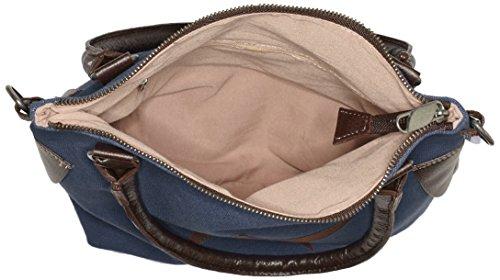 Bags4Less - Stern-mini, Borsa a tracolla Donna Blau (Canvas-Dunkelblau)