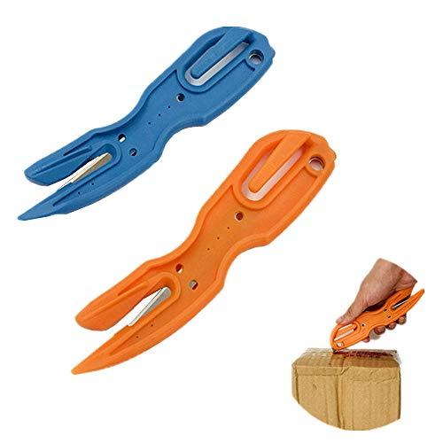 Bescita Kreative Weihnachten Geschenkpapier Cutter Weihnachten Mini Tragbare Multifunktions Outdoor Werkzeuge für Geschenkfolie und Geschenkpapier (Orange)