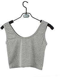 Morwind Chaleco Deportivo Mujer, Camisa Sin Mangas Mujer Blusas Mujer Verano Tops Mujer Crop Bustier