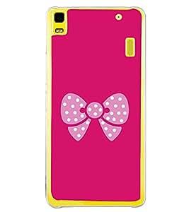 Pink Bow 2D Hard Polycarbonate Designer Back Case Cover for Lenovo A7000 :: Lenovo A7000 Plus :: Lenovo K3 Note