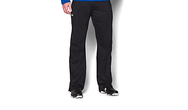 bc812cee56 Under Armour Mens EU ArmourStorm Pant Golf Trousers - Black/Steel - S-34:  Amazon.co.uk: Clothing