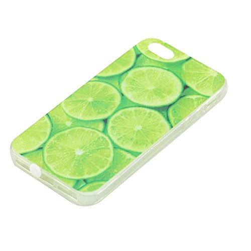 SZHTSWU 2 x Hülle für iPhone 6 6s, Ultra Slim Thin Weiche TPU Ultradünn Silikon Schutzhülle Case Transparent Clear Flexible Rückschale Back Cover Etui Handy Hülle Bumper Abdeckung für Apple iPhone 6 6 Grün Zitrone Wassermelone