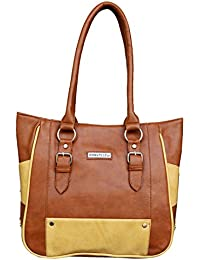 Fantosy Tan And Beige Women Shoulder Bag (FNB-714)