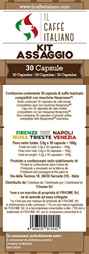 Buy 30 Nespresso® Compatible Coffee Capsule - Coffee Taste kit -30 x coffee capsules/pods espresso compatible Nespresso - Il Caffè Italiano from il caffè italiano