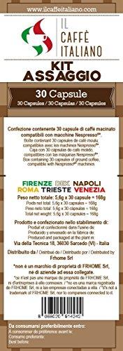 Verkostungsset mit 6 verschiedenen Kaffeesorten - 30 Nespresso Kompatible Kaffee Kapsen - Il Caffè Italiano