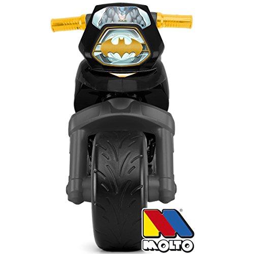 Rutsch Motorrad XXL im Batman Design mit breiten Reifen, dient als Lauflernhilfe für die Kleinen, 73 cm, für Innen und Außen, Lauflernrad Rutschfahrzeug fürs Gleichgewicht, XL Bike, ab 3 Jahren - 2