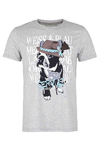 Hangowear Herren Oktoberfest T-Shirt Servus Grau, Grau, XXL