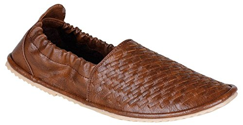 Hot Man Mens' Designer Tan Formal Slip On Shoes Size:- 10 UK/IND (AFX-801-10)