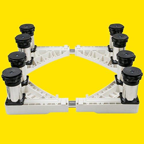 Qiangzi Einstellbare Basisständer Kühlschränke Waschmaschine Universalgerät Roller Trolley Edelstahl Spezielle Einstellbare Basis 500 KG Last 17 Cm Für Badezimmer Küche ( größe : 8 feet ) (Küche Wagen Roller)