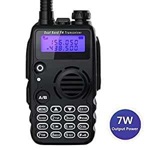 Radioddity GA-5S Radio ricetrasmittente FM Dual Band UHF VHF tre livelli di Potenza 7W/5W/1W con torcia di illuminazione, batteria da 1800 mAh ed auricolare