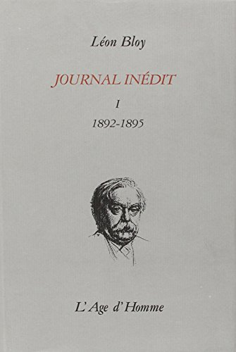 Journal inédit I (1892-1895)