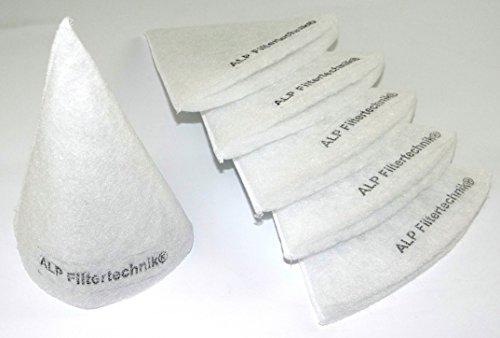 Sonderpreis 20x Kegelfilter Durchmesser Aussendurchmesser circa 100mm - 125mm - Länge ca. 180mm- 200mm Dicke ca. 4 - 8mm (je nach Charge) Tellerventil Abluft Zuluft Filter für Aussenluft / Ansaugturm / cooling heating systems (Ersatzfilter Luftreiniger System)