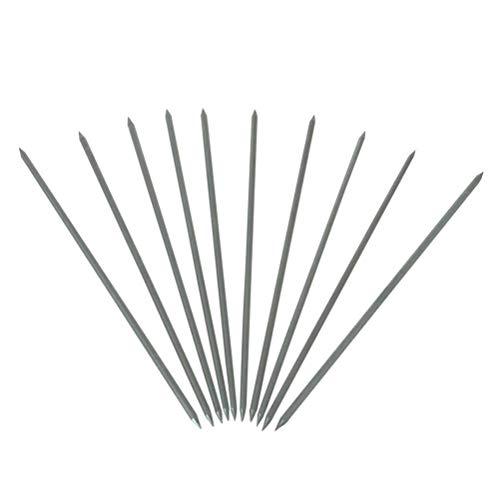 TEN-HIGH, Soudage TIG Électrodes de Tungstène avec 2% de Cérium Aiguisées à 30 °, WC20 (Grises), 2,4mm x85mm, 10pcs.