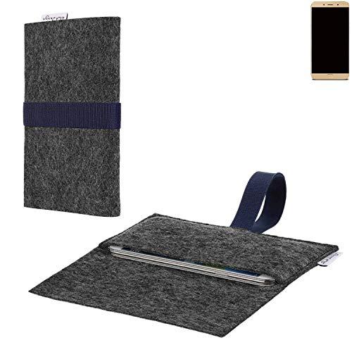 flat.design vegane Handy Hülle Aveiro für Allview X4 Soul Lite passgenaue Filz Tasche Case Sleeve Made in Germany