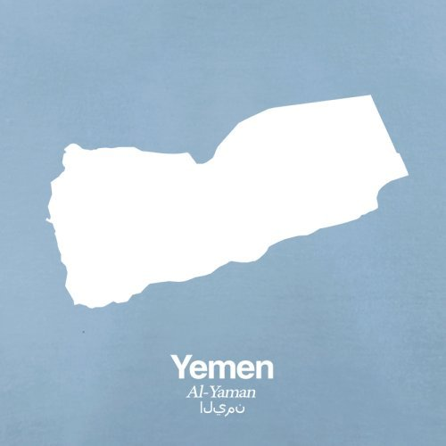 Yemen Silhouette - Herren T-Shirt - 13 Farben Himmelblau