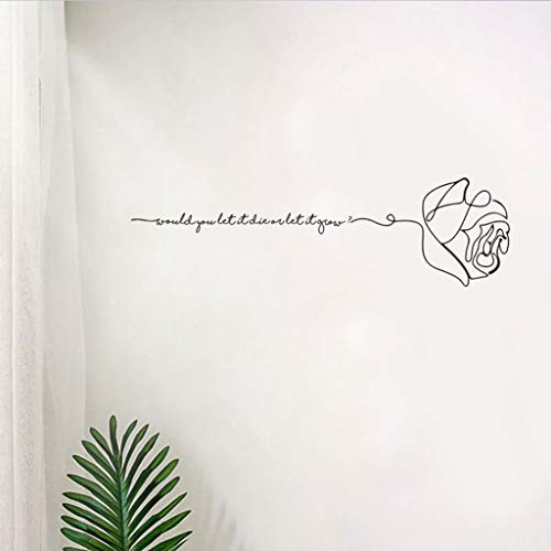 er Wall Sticker Strichzeichnung Decor Home Room DIY Decor Simple Style Removable Mural Decals Kids Room Home Decor (C) ()