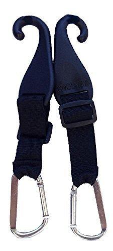 MAXOPS Paar patentierte CJ Zaun Haken für Fledermaus Taschen, Tennis Taschen, Wasser Flaschen und Camping -