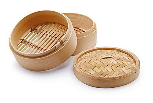 CHIO Cuoci Vapore, Bambù, Beige, 20 cm, 3 Pezzi