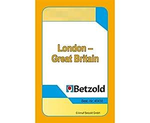 """Betzold - 36 cartas """"de londres y gran bretaña"""", juego de cartas, en un plástico resistente y robusto"""