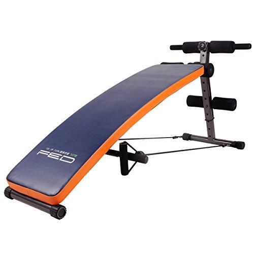 Banco de ejercicio Feierdum, ajustable y plegable, con cuerda de entrenamiento incluida,...