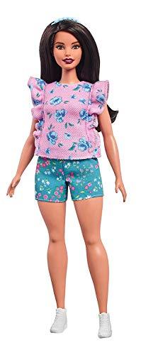 Barbie- Fashionistas Bambola Volant Floreali Uno Stile da Collezionare, FJF43