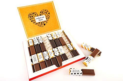 SURPRISA Aufkleber Set für Merci Schokolade - Dankeschön beste/r Freund/in - kreative Geschenke für Freundin, Freund, Mutter, Vater - kleine aber persönliche Geschenkideen - kleines Geschenk