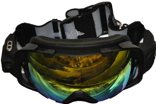 Masque SportXtreme Montagne, Wearable Action Camera, Photo / Caméra vidéo Full HD 1080p, pour Ski / snowboard, 5Mpx, 135 degrés Grand Angle, Noir