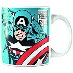 Marvel mugbmv03Taza Capitán América, porcelana, multicolor, 8,5x 8,5x 10cm