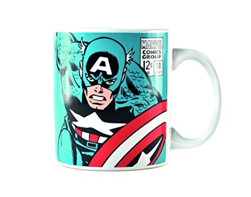 Marvel tazza mugbmv03Captain America, Porcellana, Multicolore, 8,5x 8,5x 10cm