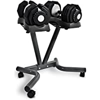 Bodymax 2 x 25kg Selectabell Dumbbells with Stand