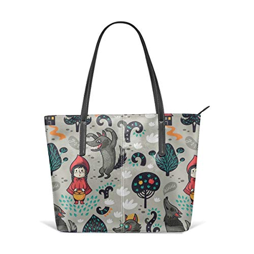 Dama Home Handbags For Women,Red Riding Hood Satchel Leather Shoulder Bag,Totes Purses Messenger Bags Womens Red Riding Hood