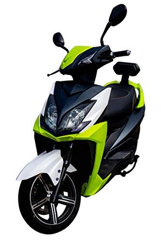 Elektroroller FALCON, 3400 Watt, E-Scooter, Elektro-Roller, E-Roller mit Straßenzulassung, 45 km/h, herausnehmbarer Lithium-Akku, 55 km Reichweite, Produktvideo, Grün