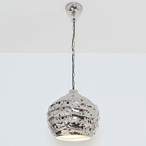 Hängeleuchte Pomelo / Aluminium Vernickelt / Silber-Schwarz