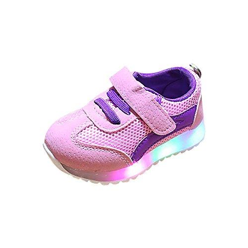 YanHoo Zapatos Luminosos Infantiles Luces LED Zapatillas