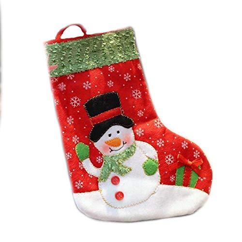 SPFAZJ Weihnachten Strümpfe Weihnachten Dekoration Weihnachten Socken Weihnachten Geschenk Taschen kleine Weihnachten Socken hoch 26 cm