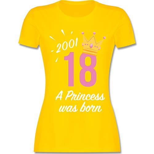 Geburtstag - 18 Geburtstag Mädchen Princess 2001 - S - Gelb - L191 - Damen Tshirt und Frauen T-Shirt
